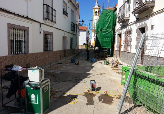Plaza de España y Plaza de la Autonomía de Alcolea del Rio (Sevilla)